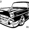 1957 CHEVY CLIP ARTPATTERN