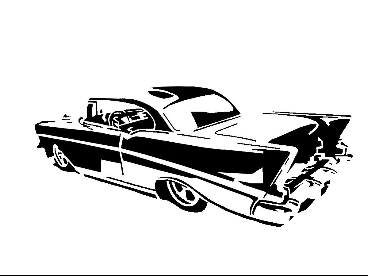 free draw a 57 chevy coloring pages
