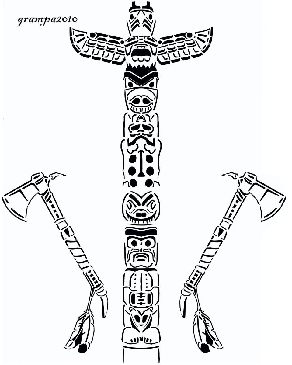 tlingit totem poles coloring pages - photo#30