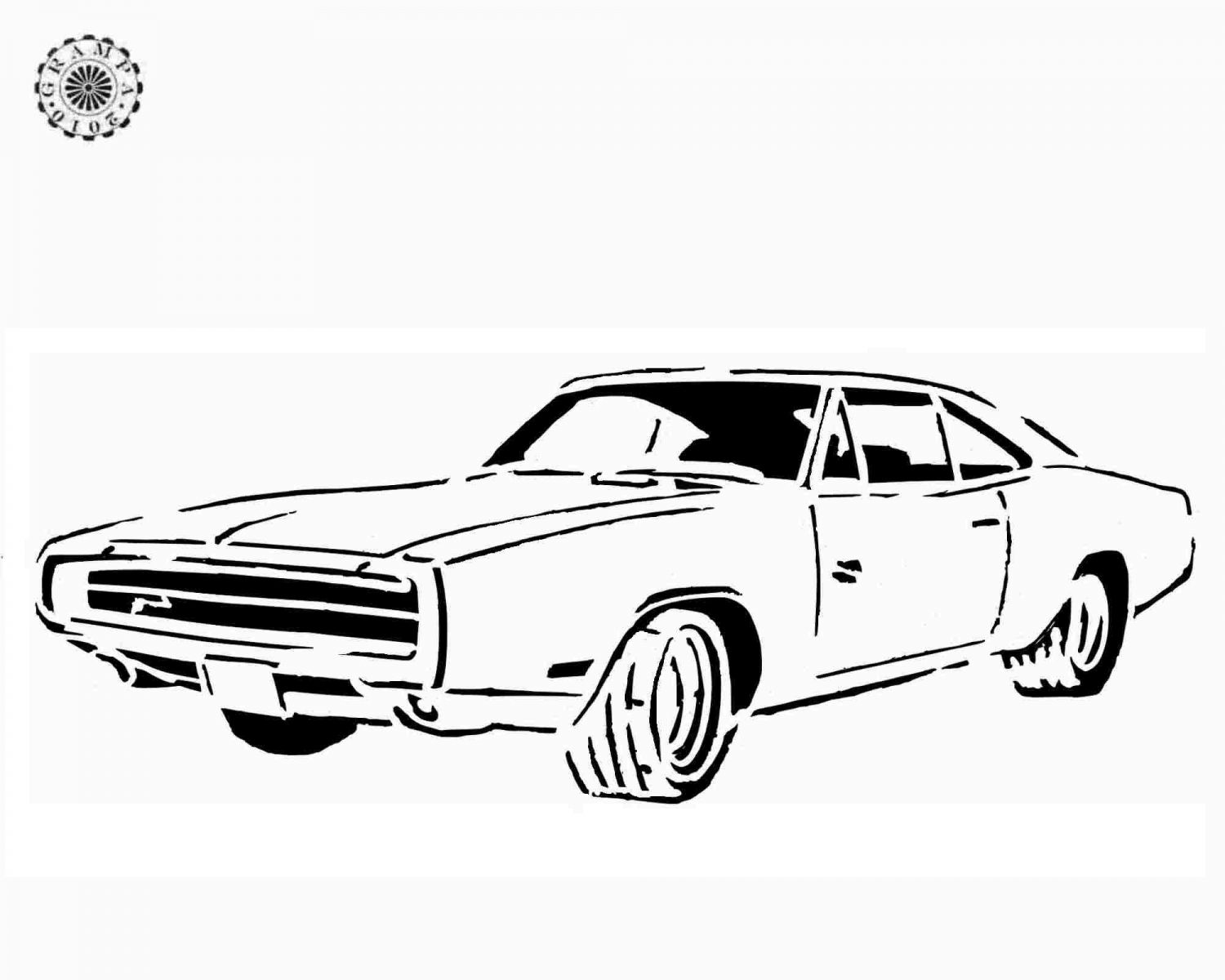 printable dodge charger coloring pages - photo#8