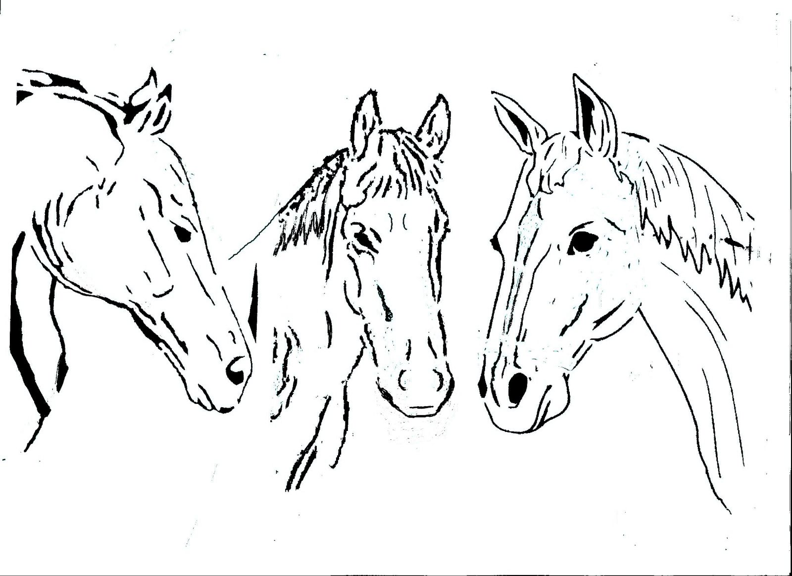 pdf scrollsaw pattern horseshoe with horsehead