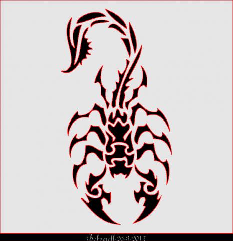 Tribal Scorpion plaque
