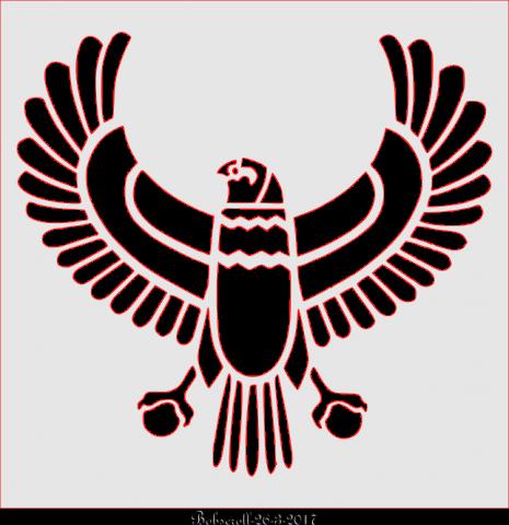 Egyptian Bird plaque
