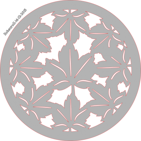 Trivet Maple leaf design