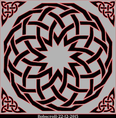 Celtic square Trivet 2