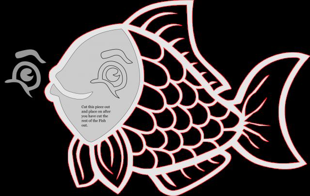 Fish wall hanger