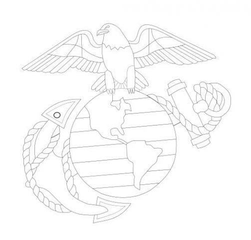Marine emblem pattern