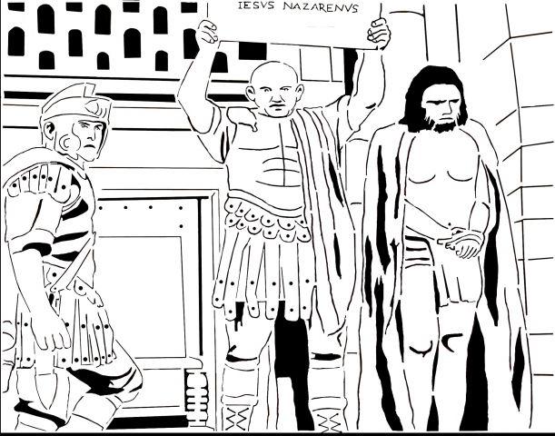 Jesus meets Pilate