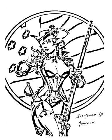 militia girl