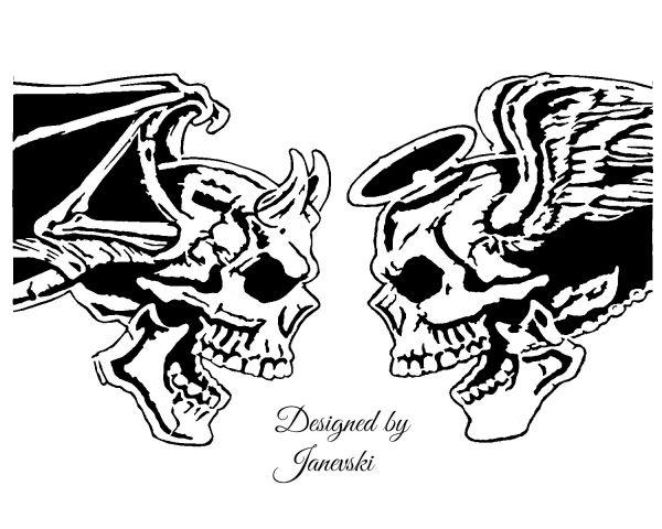 good&evil skull2