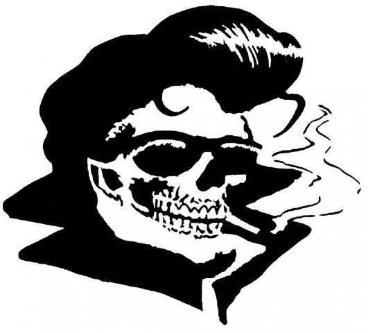 ROCK AND ROLL SKULL 2