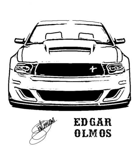 mustang front view