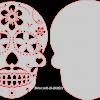 Mexican Skull & backer