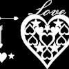 Love Heart plaque