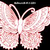 Butterfly stencil pattern