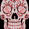 Mexican Skull stencil