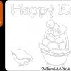 Happy Easter plaque