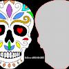 Dia De Los Muertos Skull plaque 1
