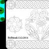 Celtic decorated plaque