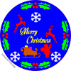 Christmas plaque Or Trivet