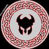 Celtic circle & Viking Helmet