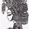 Chinese papercut head